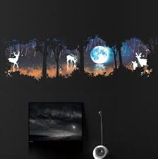 Christmas Tree Wall Decal Living Room Bedroom Tv Background Forest Lusy Store