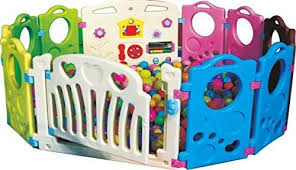 Buy Rainbow Toys Children Toddler Kids Playing Safety Playpens Baby Play Fence 12pcs Set Multi Colour Rbwtoy16332 Online Shop Toys Outdoor On Carrefour Uae