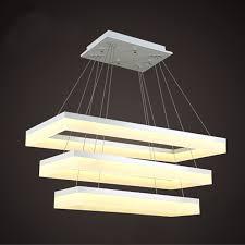 tiered rectangular led light fixture