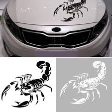 3d Black White Scorpion Car Decal Stickers Diy Car Decoration Wish