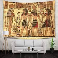 egyptian wall mural wall decor curtains