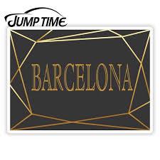 Jump Time Barcelona City Spain Art Deco Stickers Travel Sticker Luggage Decal Truck Window Car Wrap Car Accessories Aliexpress