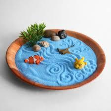 mini ocean zen garden blue beach