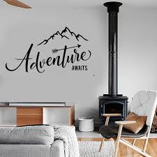 Adventure Begins Wall Stickers Travel Wall Decals Mountain Travel Wall Sticker Adventure Vinyl Home Room Bedroom Decal Wall Stickers Aliexpress