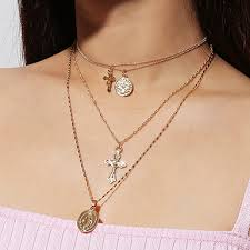 double choker and chain necklaces combo