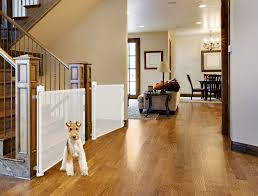 Retract A Gate For Your Dogs Tall Tough Retractable Dog And Pet Gate