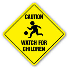 Caution Watch For Children 3 Pack Of Vinyl Decal Stickers 4 X 4 Walmart Com Walmart Com