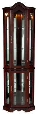 sei lighted corner curio cabinet