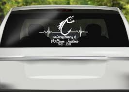 In Loving Memorial Fishing Car Decal Car Window Custom Fish Etsy