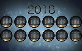 2018 happy new year calendar wallpaper