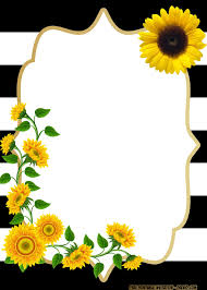 Free Printable Sunflower Birthday Invitation Templates Tarjetas