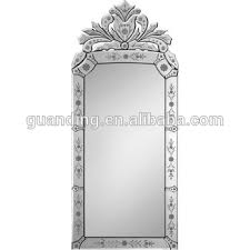 venetian style antique crowned mirror