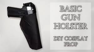 diy gun holster cosplay prop you