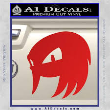 Knuckles Sxc Decal Sticker Sonic The Hedgehog A1 Decals