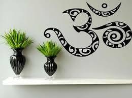 Wall Decal Sticker Room Mural Design Art Om Abstract Symbol Sign Decor 1342 Ebay
