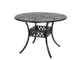outdoor round patio bistro table