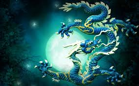 blue chinese dragon wallpapers top