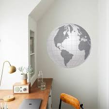 Globe Wall Decal Geographic Wall Decal Earth Decals