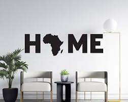 Africa Wall Decal Etsy