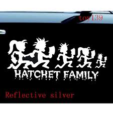 Icp Hatchetman Family Hatchet Girl Car Window Decal Vinyl Sticker Reflective Silver Silver Cove Stickers Subarustickers Ninja Aliexpress
