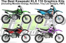 The Coolest Klx 110 Graphics Kits Online Monster Rockstar Troy Lee Designs Fmf