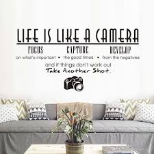 Life Is Like A Camera Wall Sticker Living Room Office Study Pvc Removable Waterproof Diy Large Vinyl Quotes Home Decor Wallpaper Vinyl Wall Decal Vinyl Wall Decals From Cocoart2016 25 13 Dhgate Com