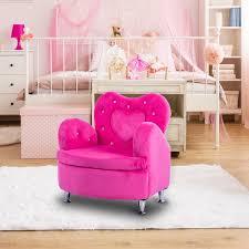 Shop Gymax Rose Kids Sofa Armrest Chair Couch Soft Velvet Toddler Overstock 21290313