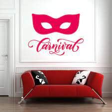 Venice Vinyl Wall Sticker Living Room Wall Decal Bedroom Carnival Decor Mask Gondola Italian Home Decoration Fashion C180 Wall Stickers Aliexpress