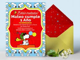 Invitacion De Cumpleanos De Snoopy Invitacion Snoopy