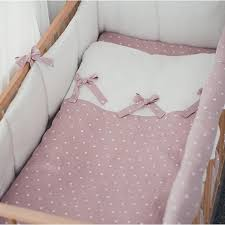 linen polka dot baby bow bedding i cot