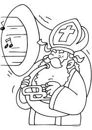 Sinterklaas Maakt Muziek Sinterklaas Kleurplaten Kleurplaat
