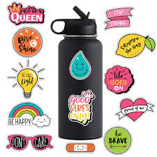 For Cute Stickers Hydro Flask Water Bottles Summer Vacation Laptop Sticker And Decals Teens Girls Women Feminists Kids 13pcs Buy At The Price Of 4 99 In Aliexpress Com Imall Com