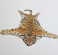 miniature faux tiger skin velvet paper