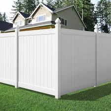 Veranda Pro Series 6 Ft H X 6 Ft W Vinyl Woodbridge Privacy Fence Panel 118662 The Home Depot