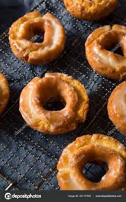 homemade old fashioned donuts stock