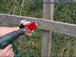 Install Electric Fence Insulators Quickly Using A Chuck Youtube
