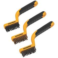 Roughneck Narrow Wire Brush Set 3 Pieces Wire Brushes Screwfix Com
