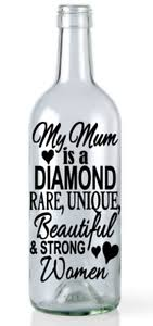 Wine Bottle Vinyl Decal Sticker Mum Is Unique Light Home Mother S Day Birthday Ebay