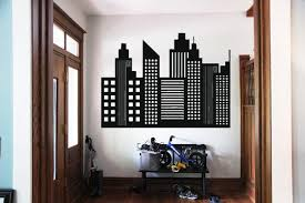 Wall Art Vinyl Sticker Room Decal Mural Decor City Buildings Town Window Bo2318 Ebay