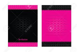Plantilla Simple En La Tarjeta Rosa Y Negro Para La Invitacion De