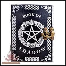 silver pentagram witchcraft embossed