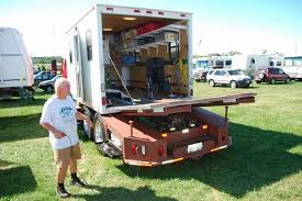 custom toy hauler from a cargo box and