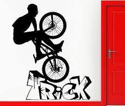 Wall Stickers Vinyl Decal Bmx Biker Bike Extreme Sport Bicycle Decor U Wallstickers4you