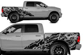 Dodge Ram 1500 2500 2009 2018 5 7 Bed Custom Vinyl Decal Kit Night Factory Crafts
