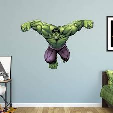 Amazon Com Fathead Hulk Avengers Assemble Life Size Officially Licensed Marvel Removable Wall Decal Home Kitchen