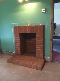 brick fireplace surround alton