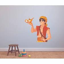 Fan Favorite Aladdin And Genie Lamp Cartoon Wall Decal Design With Vinyl Size 20 H X 18 W Fandom Shop