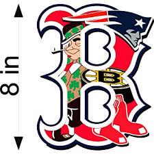 Amazon Com Bermuda Shorts Graphics Boston Sports Fan B Logo 8 Decal Patriots Red Sox Bruins Automotive