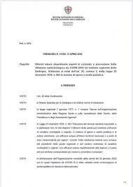Comune di Carbonia - In Sardegna restano chiuse fino al 26 Aprile ...