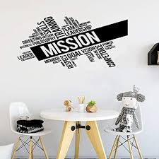 Amazon Com Wall Decal Quote Words Lettering Decor Sticker Wall Vinyl Mission Company Team Leadership Office Words Mural Home Kitchen
